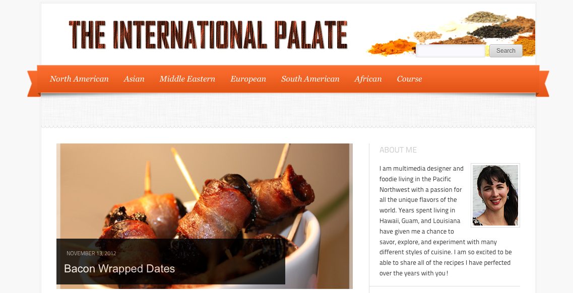 The International Palate recipe blog